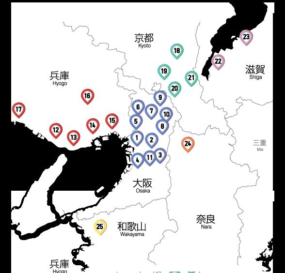 ホンダドリーム近畿ブロック 地図